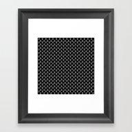 Mercury Noir Pattern Framed Art Print