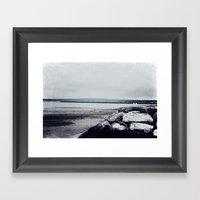 Winter Shore Framed Art Print