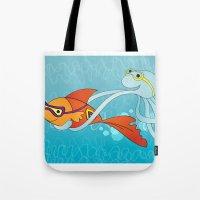 Goldfish & Octopus Tote Bag