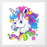 Deadicorn Art Print