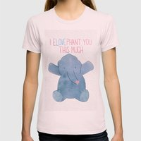 eLOVEphant Womens Fitted Tee Light Pink SMALL