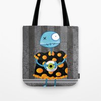 Little Lulu Unzicker with Her Favorite Pet Eye. Tote Bag