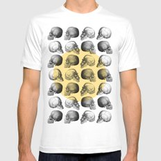 Skulls Pattern SMALL Mens Fitted Tee White