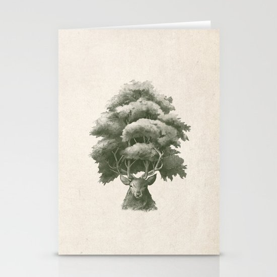 Old Growth  Stationery Card