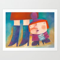 La bruja chiquita Art Print