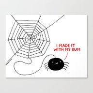 Spiders Have All The Fun Canvas Print