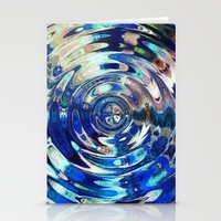 Water Element Ripple Pat… Stationery Cards