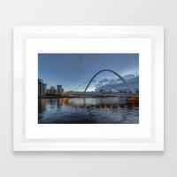 Millenium Bridge Newcastle Framed Art Print