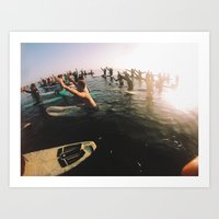 UCSB memorial paddle out Art Print
