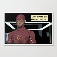 My name is Barry Allen Canvas Print