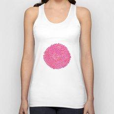 Pink Chrysanthemum  Unisex Tank Top
