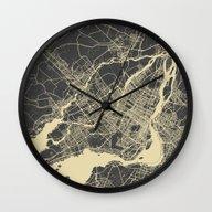 Montreal Map Wall Clock