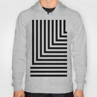 Black And White L Stripe… Hoody