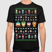Sweater Park Mens Fitted Tee Tri-Black SMALL