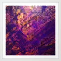 Purple and Orange Stripes Art Print