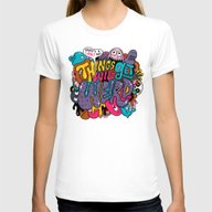 Things Might Get Weird Womens Fitted Tee White MEDIUM