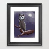 Skull Owl  Framed Art Print