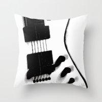 Guitar Iceman Throw Pillow