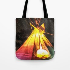 Star Trails Over My Tipi Tote Bag