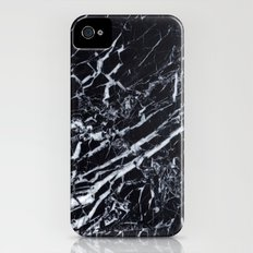 Real Marble Black Slim Case iPhone (4, 4s)