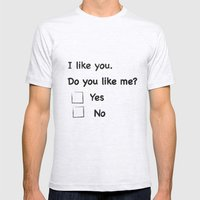 I Like You Mens Fitted Tee Ash Grey SMALL