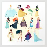 Art Print featuring Princess by Chabe Escalante