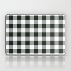 Buffalo Check in black Laptop & iPad Skin