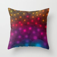 SF Dandelion Rainbow Throw Pillow