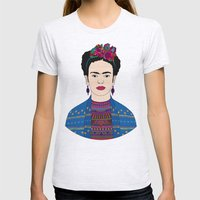 Frida Kahlo Womens Fitted Tee Ash Grey SMALL