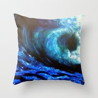 Mesmerizing Waves Throw Pillow