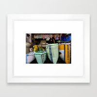 Color Market Framed Art Print