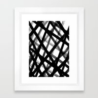Criss Cross Black and White Framed Art Print