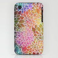 Floral Abstract 6 iPhone (3g, 3gs) Slim Case