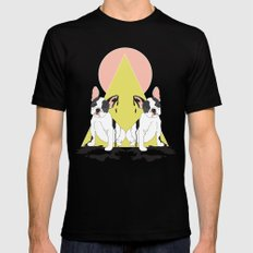 Pugs Mens Fitted Tee Black SMALL