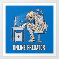 Online Predator Art Print