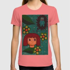 Fighting with your demons Womens Fitted Tee Pomegranate SMALL