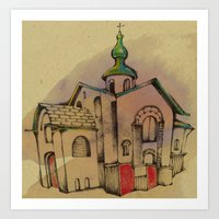 Art Print featuring Russian church by Natsuki Otani