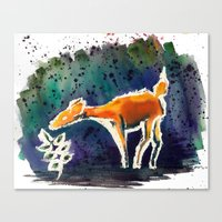 Doe Love Canvas Print