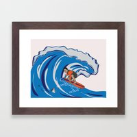Pressing Waves Framed Art Print