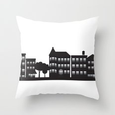 Park Slope Skyline (B&W) Throw Pillow