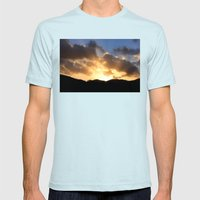 Sunrays At Sunset Mens Fitted Tee Light Blue SMALL
