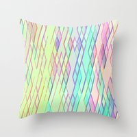 Re-Created Vertices No. 0 by Robert S. Lee Throw Pillow