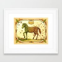 The March Of Autumn Framed Art Print