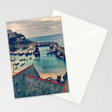 Grey Clouds Above The Ferocious Water  Stationery Cards