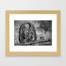 CATTLE TAG #16 Framed Art Print