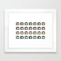 Colourful Camera Icons Framed Art Print