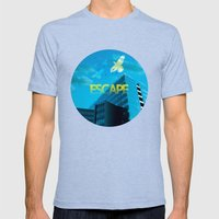 Escape Mens Fitted Tee Tri-Blue SMALL