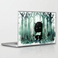 Laptop & iPad Skin featuring A Quiet Spot (in Green) by Littleclyde