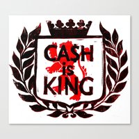 Cash is King Coat of Arms Canvas Print