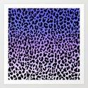 Ice Leopard Art Print